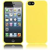 Schutzhülle für Apple iPhone SE / 5 / 5s - Slim TPU Silikon Case in Opak Gelb von PrimaCase