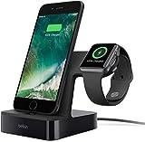 Belkin Dock di Ricarica PowerHouse per Apple Watch + Dock di ricarica per iPhone XS, XS Max, XR, X, 8/8 Plus e Altri, Apple Watch Series 4, 3, 2 e 1