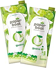 Paper Boat Guava Fruit Juice, No Preservatives and Colours (Pack of 2, 1L Each)