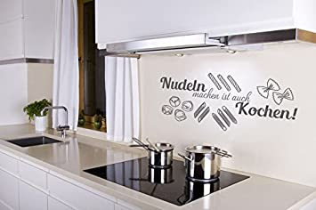 Küchentattoos  Wandtattoo Nudeln machen ist auch Kochen Nr 1 Küchen Wandsprüche ...