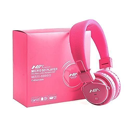 Nice Quality Micro SD TF Card Headset Headphone USB Audio MP3 Music Player FM Radio (Pink) can also be use with Aux cable for Apple iPad4 iPhone 5,Ipod All Mp3 Mp4 Players Sony Creative Samsung, All Laptop Pc And All Devices With A Standard 3.5Mm Jack Plug