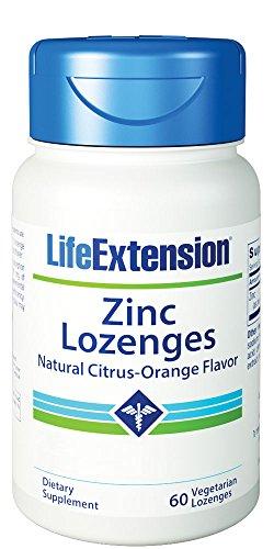 Citrus Zink Vitamine (Life Extension, Zink Lutschtabletten, natürlichen Citrus-Orange Geschmack, 60 Veggie-Lutschtabletten)