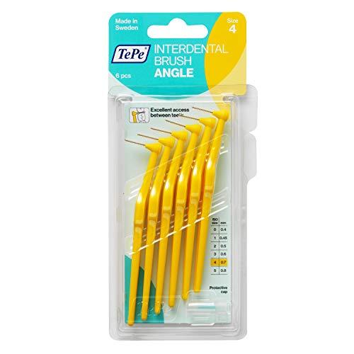 TePe Interdentalbürsten Angle gelb 0,7 mm, 2er Pack (2 x 6 Stück)