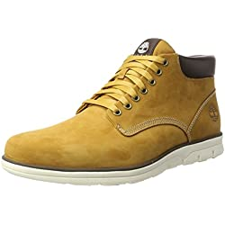 Timberland Bradstreet Chukka Leather, Bottines Homme, Jaune (Wheat Nubuck), 42 EU