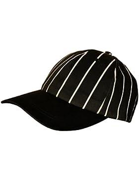 MagiDeal Sombrero de Gorra con Tapa de Cocinero de Cocina Para Cafeterías De Restaurante - blancas y negras