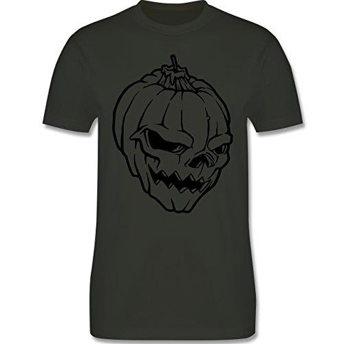 Piraten & Totenkopf - Totenkopf - Herren Premium T-Shirt Army Grün