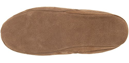 Homme Véritable Peau de Mouton complet tour Chaussons avec semelle souple Tailles 6–13uk (Chocolat, marron) Marron - Noisette
