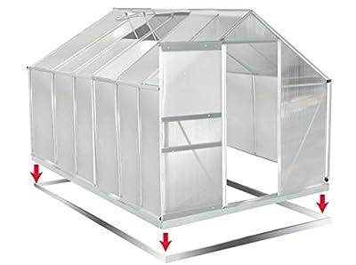 Gewächshaus Aluminium mit Stahlfundament 15,1 m³ Alu Gartenhaus Treibhaus 380x250x205cm 6mm Platten von BRAST auf Du und dein Garten