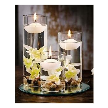 Gmall Wax Nugget Floating Candles (White) - Pack of 25