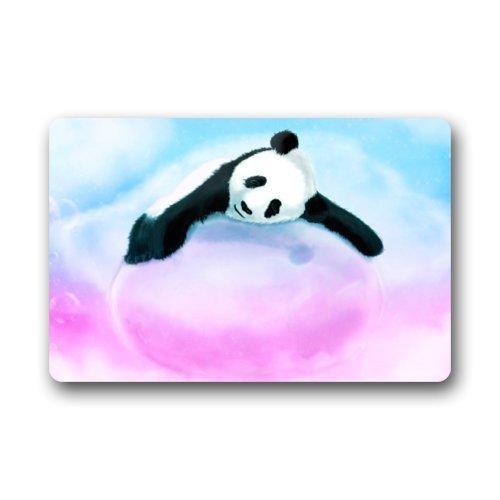 Cute Panda Bear Sleeping in Pink Marshmallow Art Doormat Rug Indoor/Outdoor/Front Door/Bathroom Mats Floor Mat 23.6 X 15.8 Inch ()