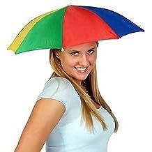 6d7ae300eaab8 Gorra de sombrilla plegable paraguas - Sombrerería para adultos - Perfecto  para el carnaval