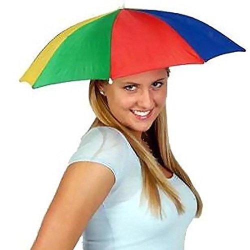 thematys Faltbarer Regenschirm Sonnenschirm Hut - Kopfbedeckung für Erwachsene - perfekt für Karneval, Festival, Strand & Outdooraktivitäten - - Sonne Hut Kostüm