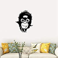 Peel and Stick Removable Wall Stickers Funny Monkey Jungle Animal Nursery