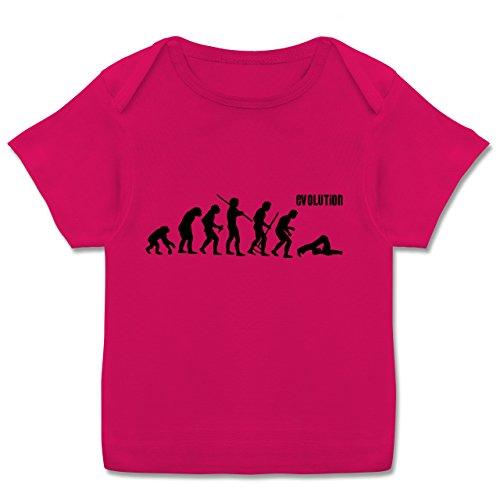 Evolution Baby - Pilates Evolution - 68-74 (9 Monate) - Fuchsia - E110B - Kurzarm Baby-Shirt für Jungen und Mädchen