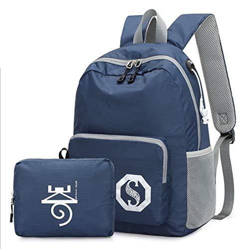 Flower Essential Tote Bag (YRRC Lässiger Rucksack, Outdoor Waterproof Nylon Bag, Waterproof College School Computer Bag for Men and Women Suitable for 14.9 Zoll Laptop and Notebook,Blue)