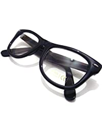 Black Frame and Clear Lens Wayfarer Style Fashion Glasses Gloss Finish
