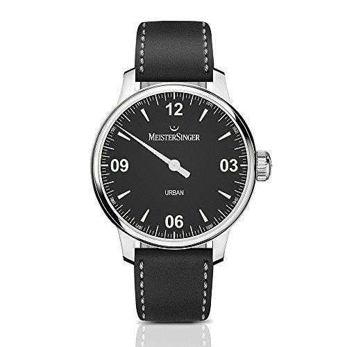 MeisterSinger Urban 1manecillas–Reloj automático para hombre negro