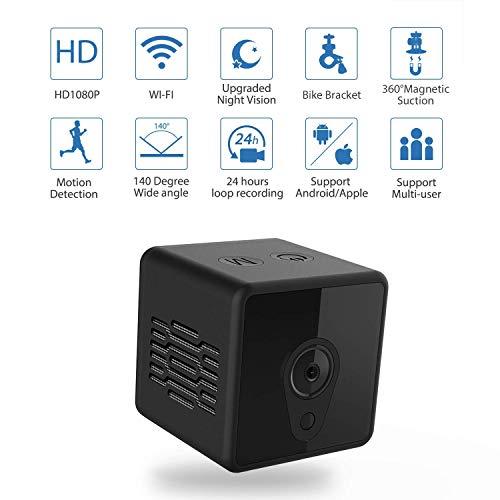 Mini WLAN Kamera Jayol Überwachungskamera 1080P HD Aussen und Innen Kamera mit IR Nachtsicht Bewegungserkennung und Videoaufzeichnung Babyphone für Indoor/Baby/Nanny/Haustier Cam
