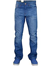 New Men's Designer Firetrap Straight Jeans Fit Denim Pants