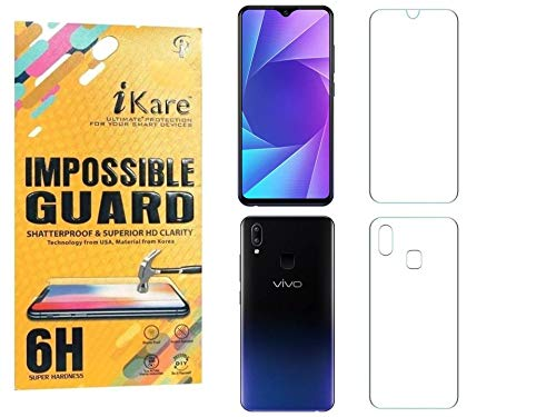 Sajni Creations Ikare Impossible Vivo Y95 Front and Back Tempered Screen Guard for Vivo Y95 - Transparent (Does not Cover The Edges)