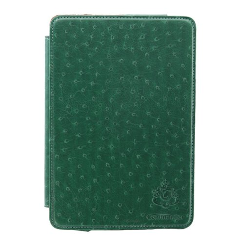 COMMANDER Designer exklusive Premium Tasche DeLuxe Ostrich Dark Green für Apple iPad Mini Lizenzprodukt PDA-Punkt (Skin Leder Ostrich)