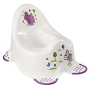 pot d 39 apprentissage avec pattes anti derapant motif hippo. Black Bedroom Furniture Sets. Home Design Ideas