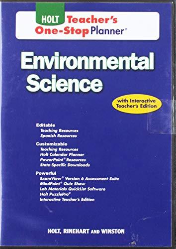 Holt Environmental Science Teacher S One Stop Planner CD ROM