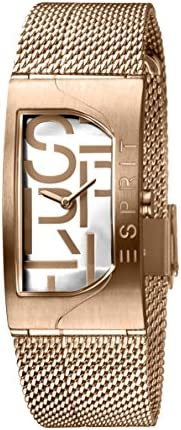 Esprit Womens Quartz Watch, Analog-Digital Display and Stainless Steel Strap, ES1L046M0045