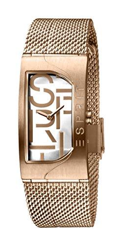 Esprit Damen Analog Quarz Uhr mit Edelstahl Armband ES1L046M0045