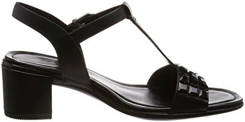 Ecco Damen Shape 35 Peeptoe Sandalen Schwarz (Black)
