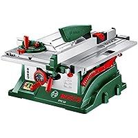 Bosch Tischkreissäge PTS 10 (Spaltkeil, Tischverlängerung, Winkelanschlag, Absaugschlauch, Karton, 1400 Watt, Kreissägeblatt Nenn-Ø: 254 mm, Schnitttiefe bei 90°: 75 mm)
