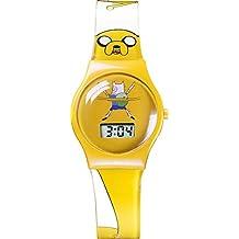 Adventure time ADT3 - Reloj de cuarzo, unisex, con correa de plástico, color amarillo