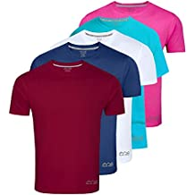 AWG - All Weather Gear Men's Polyester T-Shirt (Pack Of 5) (Awgdft-Ma-Bu-Wh-Sbu-Pnk)