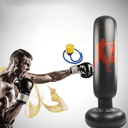 SCF Freistehender Trainer Punching Ball Sandsack,Standboxsack Boxsack Stehend Kinder/Erwachsene Punchingball Boxen Freistehender Boxsack Set,Boxsack, Luftpumpe