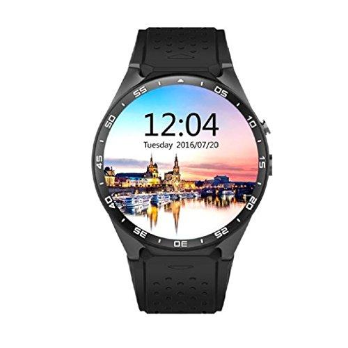 ★Loveso★ -Smartwatch Smart-Uhren Android 5.1 und IOS GPS WIFI KW88 Quad Core 4GB Bluetooth Smart Watch_Schwarz (Quadband Handy Uhr)