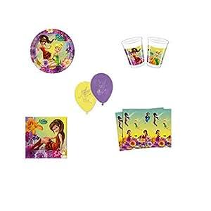 kit décoration anniversaire fée clochette pour 10 enfants