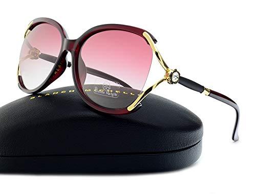 LXXSSRA Sonnenbrille Übergroße Schmetterling Sonnenbrille Frauen Polarisierte Uv400 Markendesigner Hochwertige Sonnengase Für Frauen Mit Box Gradienten Lila