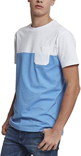 Urban Classics Herren T-Shirt Color Block Summer Pocket Tee, Blau (Horizon Blue/White 0132 Preisvergleich