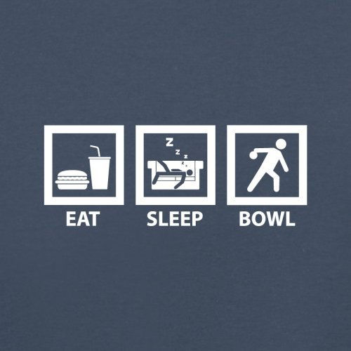 Eat Sleep Bowl - Herren T-Shirt - 13 Farben Navy
