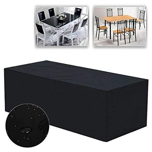 Yaheetech Housses Bâche de Protection pour Mobilier de Jardin Couverture Impérmeable pour Salon de Jardin Meuble Table Chaise M - 240 x 135 x 90cm