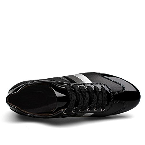 Homme Loisirs Chaussures En Cuir Mode Ballerines Chaussures Plates Chaussures Décontractées Euro Taille 38-45 Noir