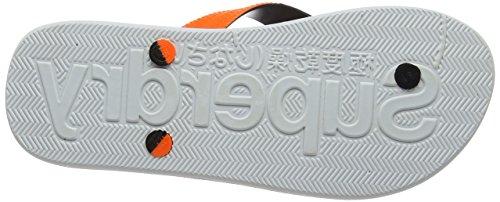 Superdry Herren Cork Colour Pop Zehentrenner Mehrfarbig (Fluro Orange/Optic)