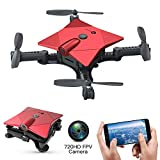 Lefant FPV Foldable Drone with 720P HD Camera, Mini Selfie Drones Live Video