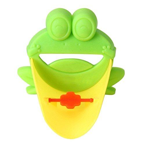 Wasserrutsche - Beideshi Waschbecken Wasserhahn Rutsche Verlaengerung Kind Haende Waschen Wasserrutsche (Gruen)