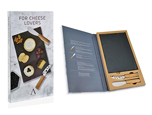 Andrea House - Set 2 Cuchillos Queso+Tabla Pizarra (CC65019)