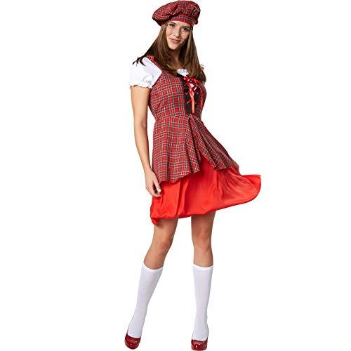 dressforfun 900422 - Damenkostüm Jugendliche Schottin, Kurzkleid aus -