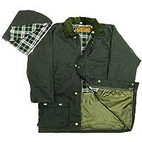 Game - Kids Childrens British Quilted Wax Rain Jacket / Coat