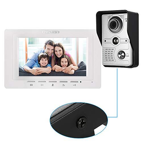 Video Türklingel 7 Inch Wired Video Doorbell Indoor Monitor Regenschutz Kamera Visual Intercom Two-way Audio Remote Unlock Video Door Phone Remote Door Unlock