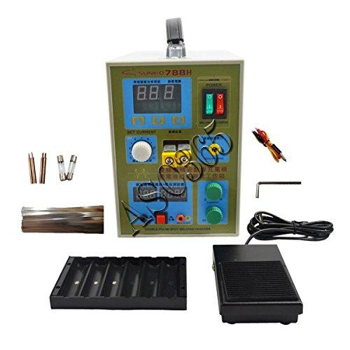 Tools & Hardware TECHTONGDA 788H LED Dual Pulse Spot Welder Machine 18650 Battery Charger AC 110V 800A 36V(item# 251017)