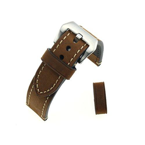 In pelle marrone Crazy Horse ruvida ispessito da polso cinturino di ricambio Cinturino 20MM